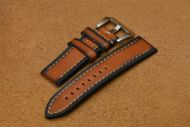 24mm Brown Strap with 2 tones