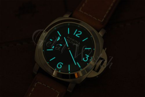 1:1 Marina Militare 44mm Black Dial with Aqua Blue Glow Superlume Watch