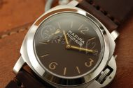 1:1 Marina Militare 44mm Brown Dial with Orange Superlume Watch