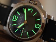 44mm Mini Fiddy Marina Militare Black Dial with Superlume Watch