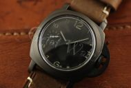 44mm Mini Fiddy Sterile Black Dial with Superlume Arabic Numbers Watch