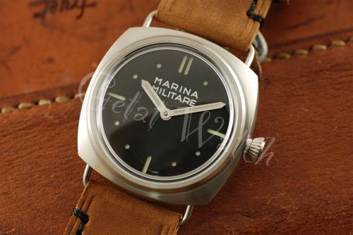 1:1 45mm Radiomir 2533 Style Marina Militare Black Dial with Superlume Watch