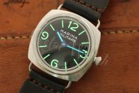 1:1 45mm Radiomir Base Style Marina Militare Black Dial with Superlume Watch