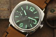 1:1 45mm Radiomir Style Sterile Black Dial withSuperlume Watch