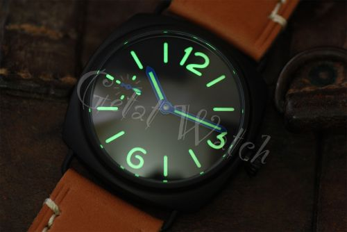 1:1 45mm Radiomir Style Sterile Black Dial with C3 Superlume Watch