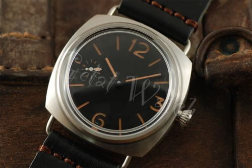 1:1 45mm Radiomir Style Sterile Black Dial with Orange Superlume Watch