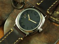 Custom Made 45mm Black Sandwich Dial with Black Numberals Watch