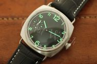 1:1 45mm Radiomir Style Sterile Black Dial with Superlume Arabic Numbers Watch