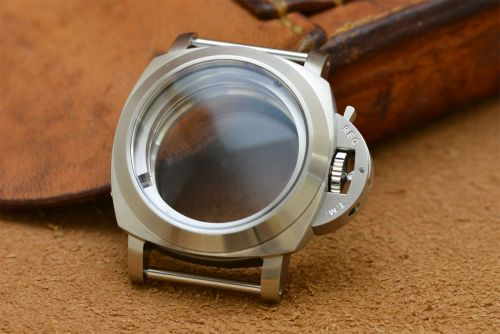 1:1 44mm 1950 Style Brushed Steel Case Set