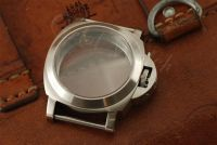 1:1 44mm Luminor Style Brushed Steel Case Set