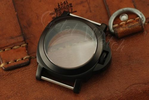 1:1 44mm Luminor Style PVD Matt Black Case Set