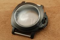 44mm Mini Fiddy Style Domed Plexiglass Matte PVD Black Case Set