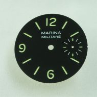 35.3mm Black Marina Militare Black Lefty Dial