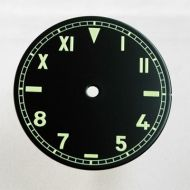 36.4mm California Style Black Dial with Green numberals