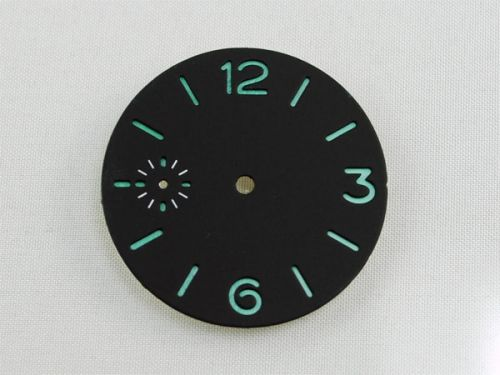 36.4mm Custom Made Black Sandwich Dial with Blue Luminous Numberals