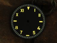 37.6mm Custom Made Black Sandwich California Dial with Orange SUPERLUME Numberals