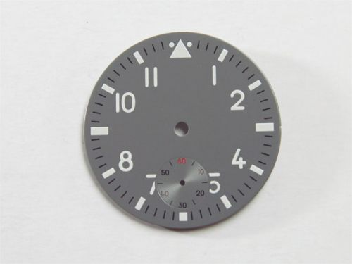 37.6mm Custom Made Grey Pilot 6498 Dial with White Luminous Numberals