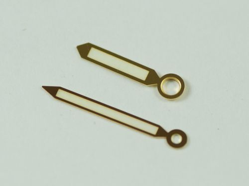 45mm & 47mm Gold Double Pencil Style Hands Set with Superlume