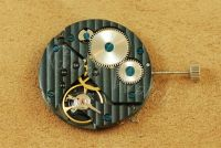 PVD Black Color 17 Jewels Blue Screw Balance Hand-winding Asian 6497 Movement with Decoration